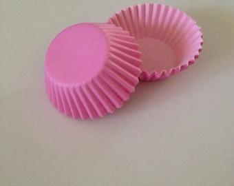 Mini Pink Cupcake Liners