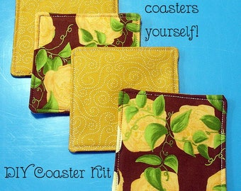 DIY Quilted Coaster Kit - Autumn Roses - Easy Instructions
