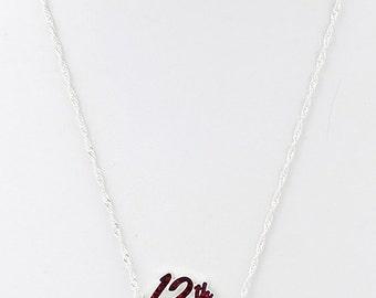12th Man Texas A&M logo  necklace