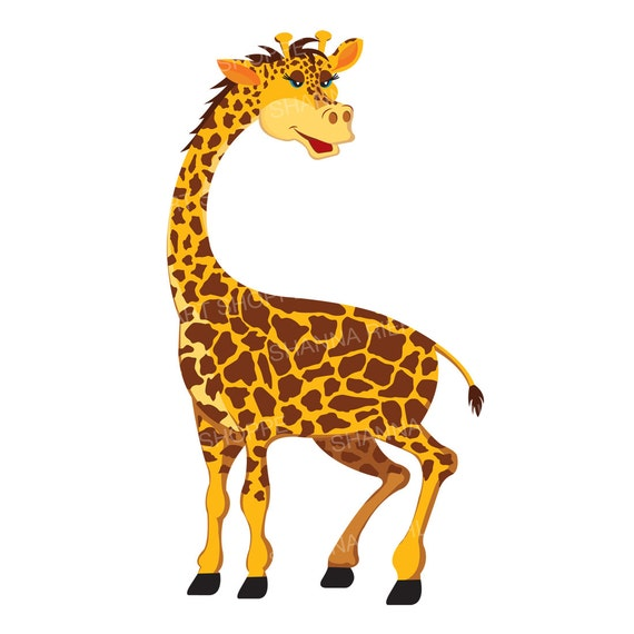 giraffe clipart jungle safari baby shower instant download rh etsy com Giraffe Coloring Pages clipart giraffe pictures