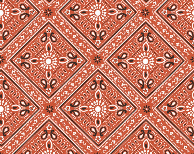 Half Yard Luckie - Bandana in Red - Cotton Quilt Fabric - by Maude Asbury for Blend Fabrics - 101.115.07.1 (W3463)