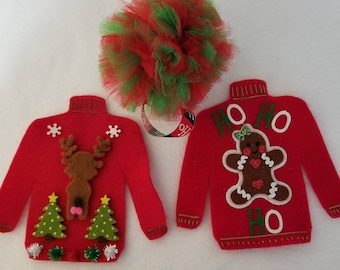 Ugly Christmas sweater bundle catnip toys.