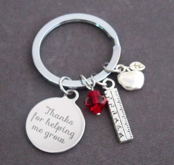 Personalized Teacher Keychain,Teacher Appreciation Gift,End of Year Teacher Gift Ideas,Thank you Teacher gift,Free Shipping In USA