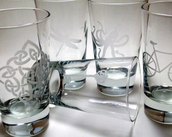 4  Highball Glasses - YOUR CHOICE