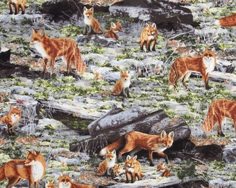 Quilting Treasures - Out of the Den - Scenic Fox