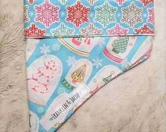 Winter/Christmas Collection Snowglobe Forest Dog Pet Tie On Bandana Neckerchief