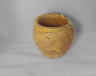 Natural edge birch bowl