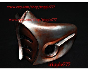 Half cover MORTAL KOMBAT mask, sub zero mask, Airsoft mask, Halloween costume & Cosplay mask, Halloween mask, Steampunk mask, MA141 et