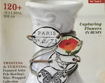 Jewelry Affaire Magazine 120 Plus Alluring Ideas Flowers in Resin Wire Wrapped Souvenir PenniesOctober November December 2016