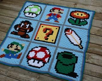 Customized Super Mario Blanket