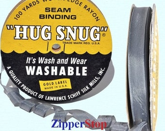 "LEADVILLE 111 - Hug Snug Seam Binding - 100 yard roll 1/2"" Wide - 100% Woven-Edge Rayon - Sewing Trim & Craft Supply - Wholesale Ribbon"
