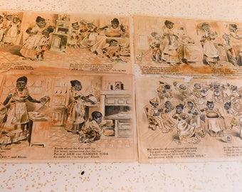 Black Ephemera Blacks Advertising Early Racist Ephemera Arm & Hammer Late 1800's Racism Black Dialect