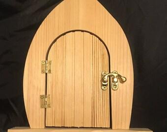 Fairy door to decorate, wooden fairy door, fairy door that opens, decorate your own fairy door, gift her her, gift for girl, wooden craft