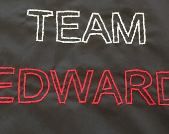 Twilight Inspired, Team Edward Redesigned in Twilight Colors, Throw Pillow