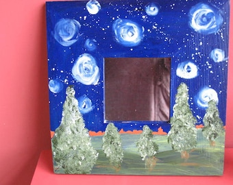 Handpainted Mirror- Starry Night - Wall Mirror