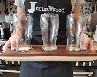 Modern Beer Tasting Tray | Beer Flight | Walnut | Maple | Handmade | Gifts For Him