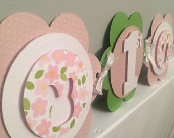 Somebunny is one banner spring banner pink and green 1st birthday banner first birthday