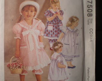 Vintage McCall's Sailor Dress and Pantaloons Pattern 7508 FF