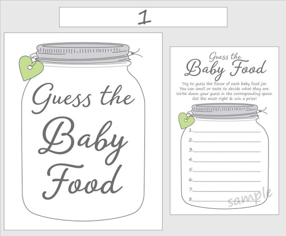 Magic image pertaining to guess the baby food game free printable