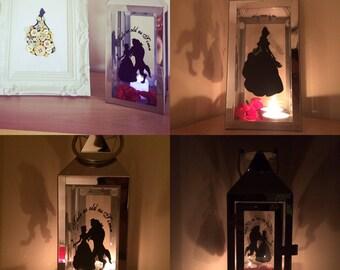 Beauty and the beast lantern