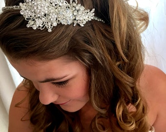 Bridal Headband   Wedding Headband  Bridal Headpiece  Bridal Hairpiece  Crystal Wedding headband Simply Beautiful
