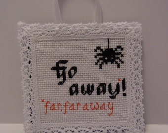 Go Away! sign