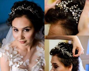 Wedding Tiara, Wedding Crown, Wedding Accessories, Bridal Hair Accessory, Bridal Halo, Wedding Headband, Bridal Headband, Bridal Headpiece