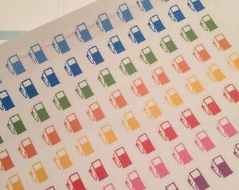 88 Gas Pump Planner Stickers for Erin Condren Life Planner (ECLP) Plum Paper PPP Reminder Sticker LDD1082