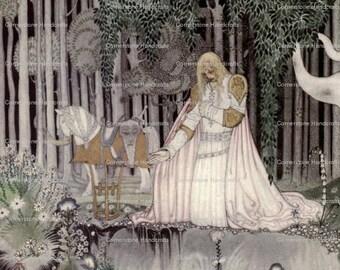 Digital Art Print Vintage Illustration by Kay Nielsen  Instant Digital Download