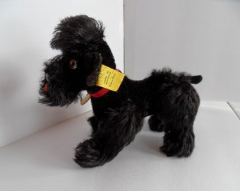 Steiff dog poodle mohair all IDs made in Germany 2441