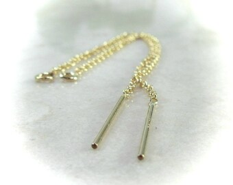 Threader Cable Chain with Ring Gold Filled - Threader Blanks, Threader Earring Blank, Gold Threader, Cable Threader, Create Your Threaders