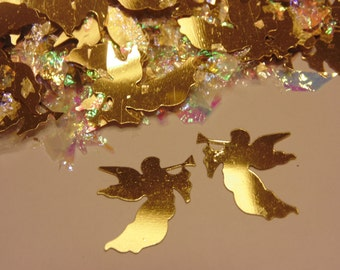 25 gold Angel confetti / sequins  , 15 x 20 mm (7)