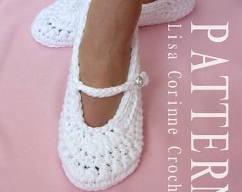 Bridal Slippers, PATTERN, Wedding Slippers Crochet PATTERN, Crochet Slippers, Women Slippers, Ladies Slippers
