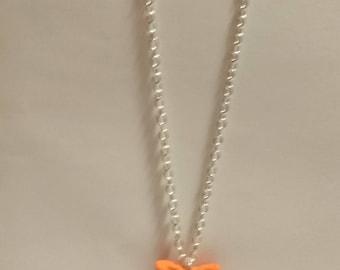 Orange star necklace