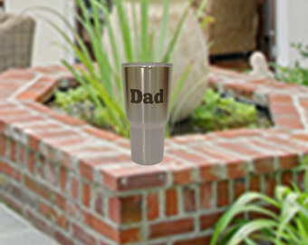 """30 oz - Personalized Engraved  Tumbler for """"Dad"""", """"#1 Dad"""", or """"World's Greatest Dad"""" in black"""