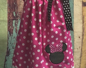 Minnie Mouse Pillow Case Dress, Pillow Case Dress