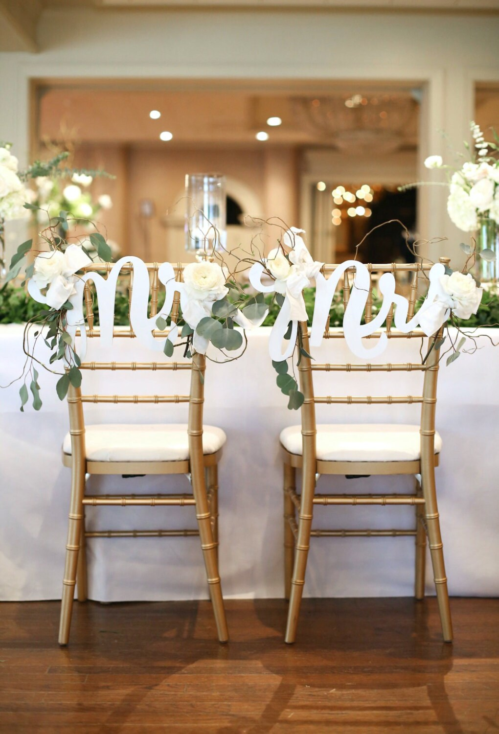 Chair Signs Mr Amp Mrs Signs For Boho Chic Wedding Chairs Bride