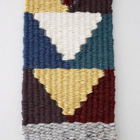 Long Weaving Woven Wall Hanging Fiber Art Weaving