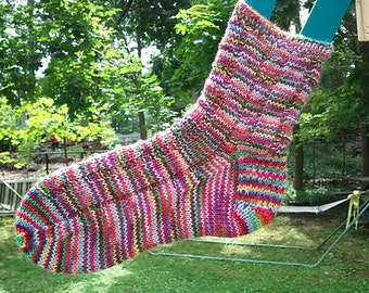 PDF Knitting Pattern--My Simple Sturdy Socks