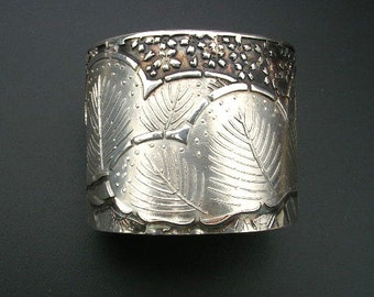 Asian Flavored  silver cuff brecelet
