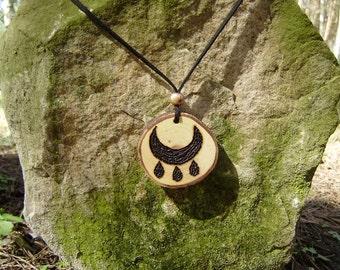 Wicca Blessing, Oak wood Pendant, Wicca Pendant, Wicca Jewelry,  hand made Pendant, witches Blessing, Blessing Pendant