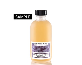 SAMPLE Exfoliating Lavender Face Toner, Facial Toner, Natural Skin Care, Exfoliator, Lavender Skincare, Willow Bark Toner, Organic Skincare