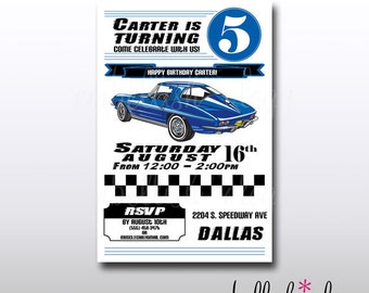 Muscle Car Party PRINTABLE Invitation