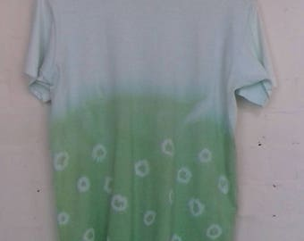 Fruit of the loom 90's green and white tie dye T shirt - small