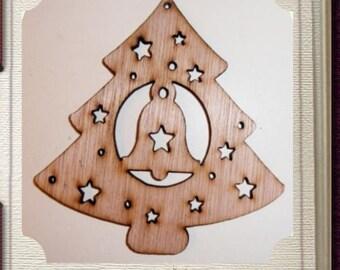 Fancy Christmas Tree Ornament - Laser Cut Wood