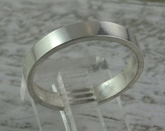Wide Smooth Band Sterling Silver Stacking Ring