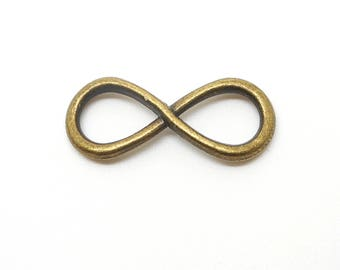 set of 2 charms bronze infinity sign