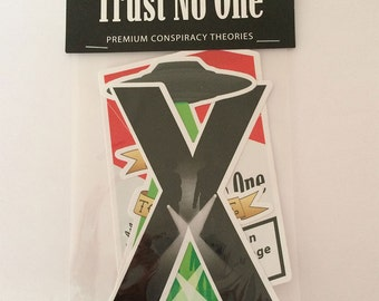 Trust No One 3 pc sticker pack! Inspired by the X-Files, Mulder & Scully
