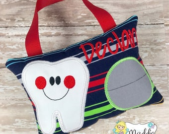 Boy Tooth Fairy Pillow, Tooth Fairy Pillow Boy, Personalized Keepsake Pillow, Tooth Fairy Pillow, Boys Tooth Pillow, Tooth Pillow