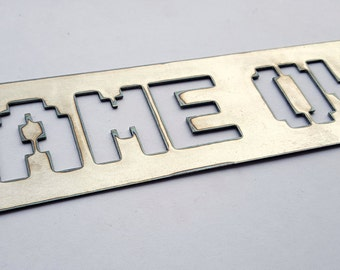 Game Over Video Game Metal Sign